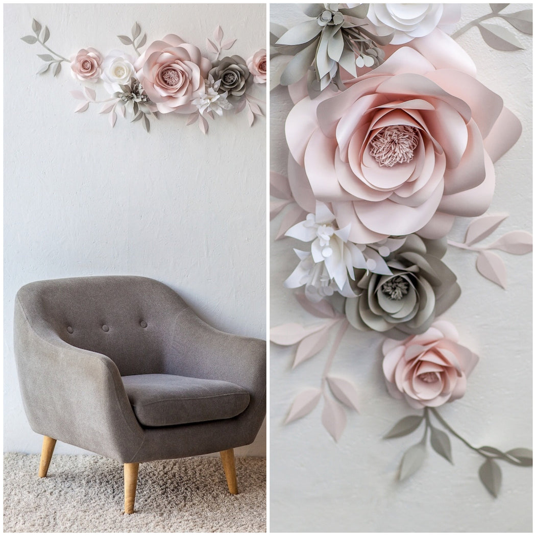 Paper Flower Wall Arrangement Nursery Wall Decor With Paper Flowers Mio Gallery