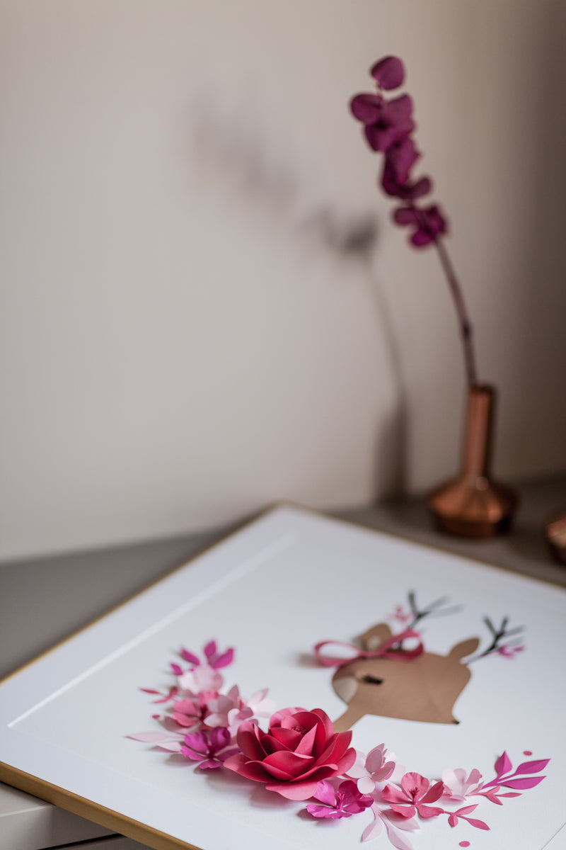 CHLOE the DEER • Happy Baby Deer Nursery Decor - Mio Gallery