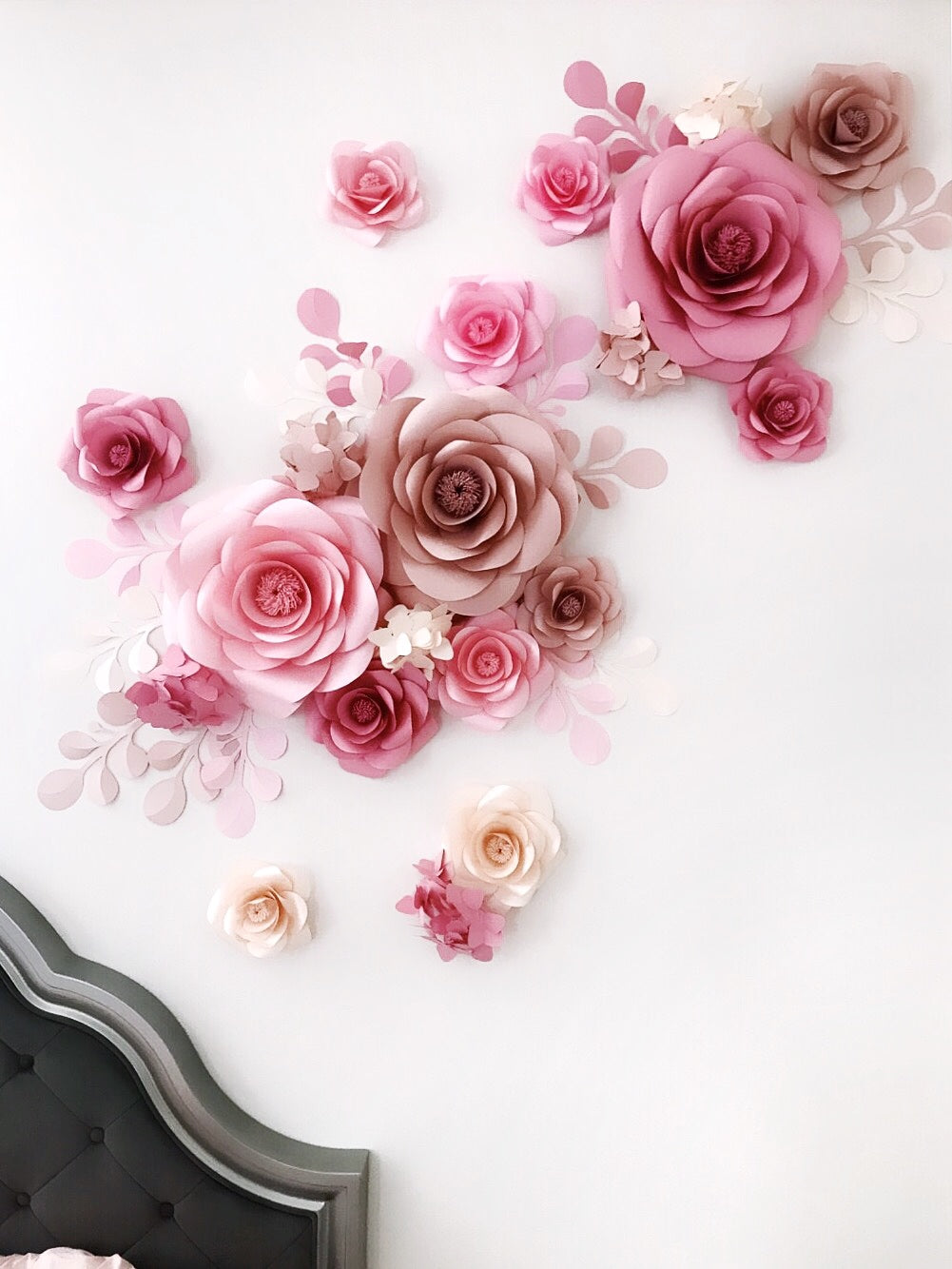 PAPER FLOWER BACKDROP - PAPER FLOWER WALL DECOR - Mio Gallery