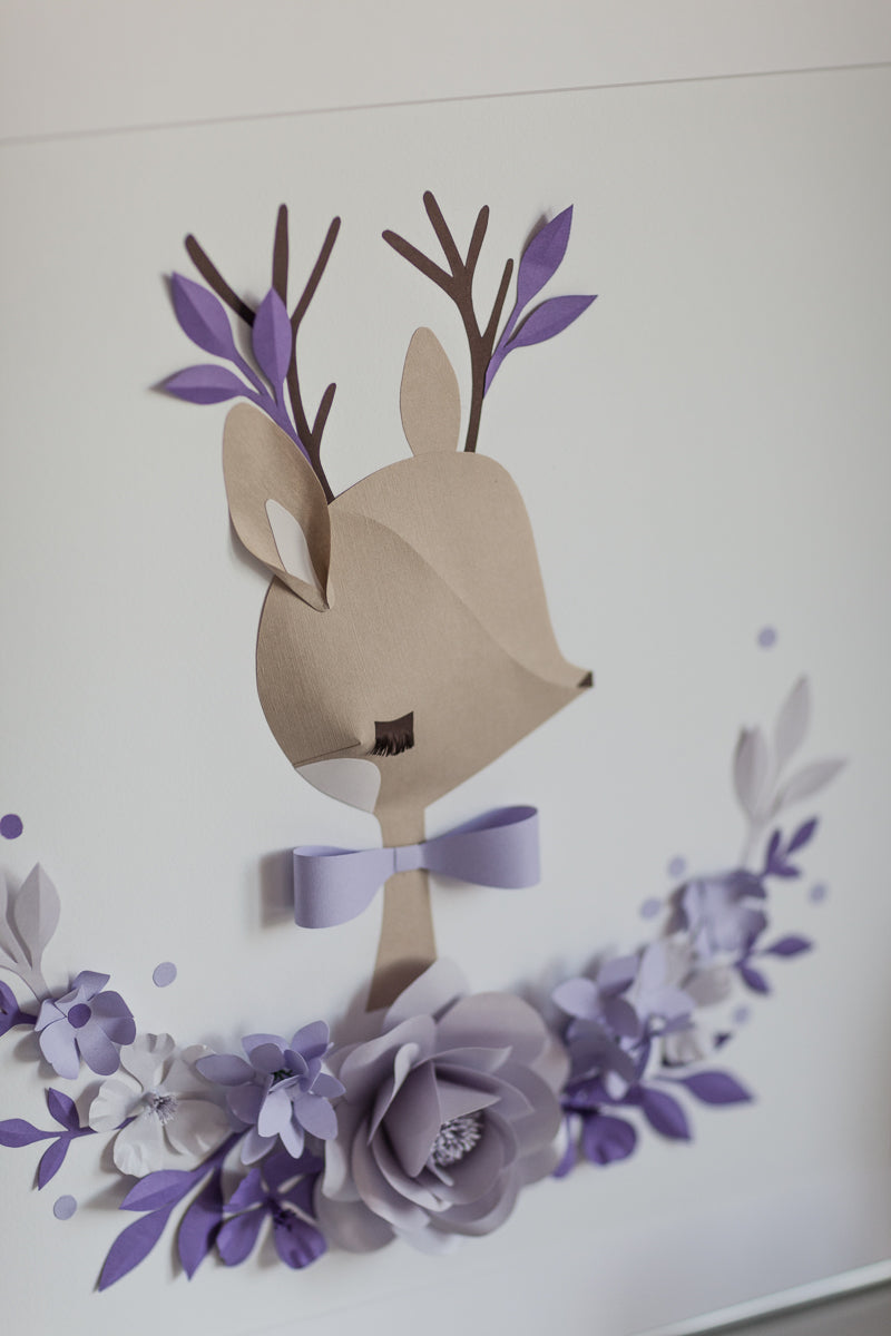 CHLOE the DEER • Woodland Nursery Wall Decor - Mio Gallery
