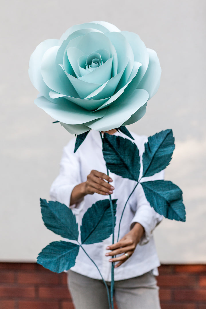 Mint Paper Rose • Alice-in-Wonderland Props - Mio Gallery