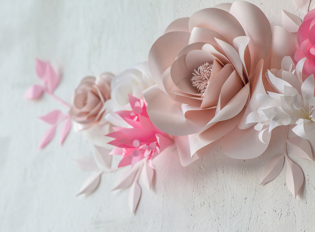 Baby Girl Room Decor - Nursery Paper Flowers - Mio Gallery