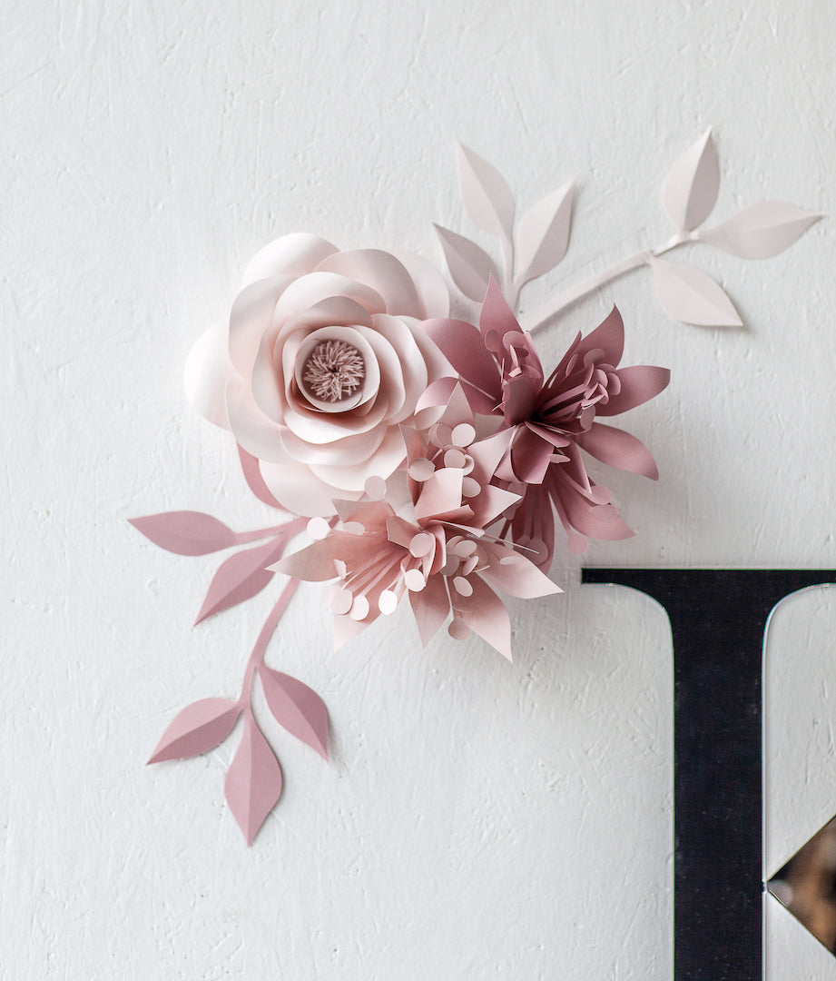 Nursery Paper Flowers - Paper Flowers Wall Decor for Nursery - Mio Gallery