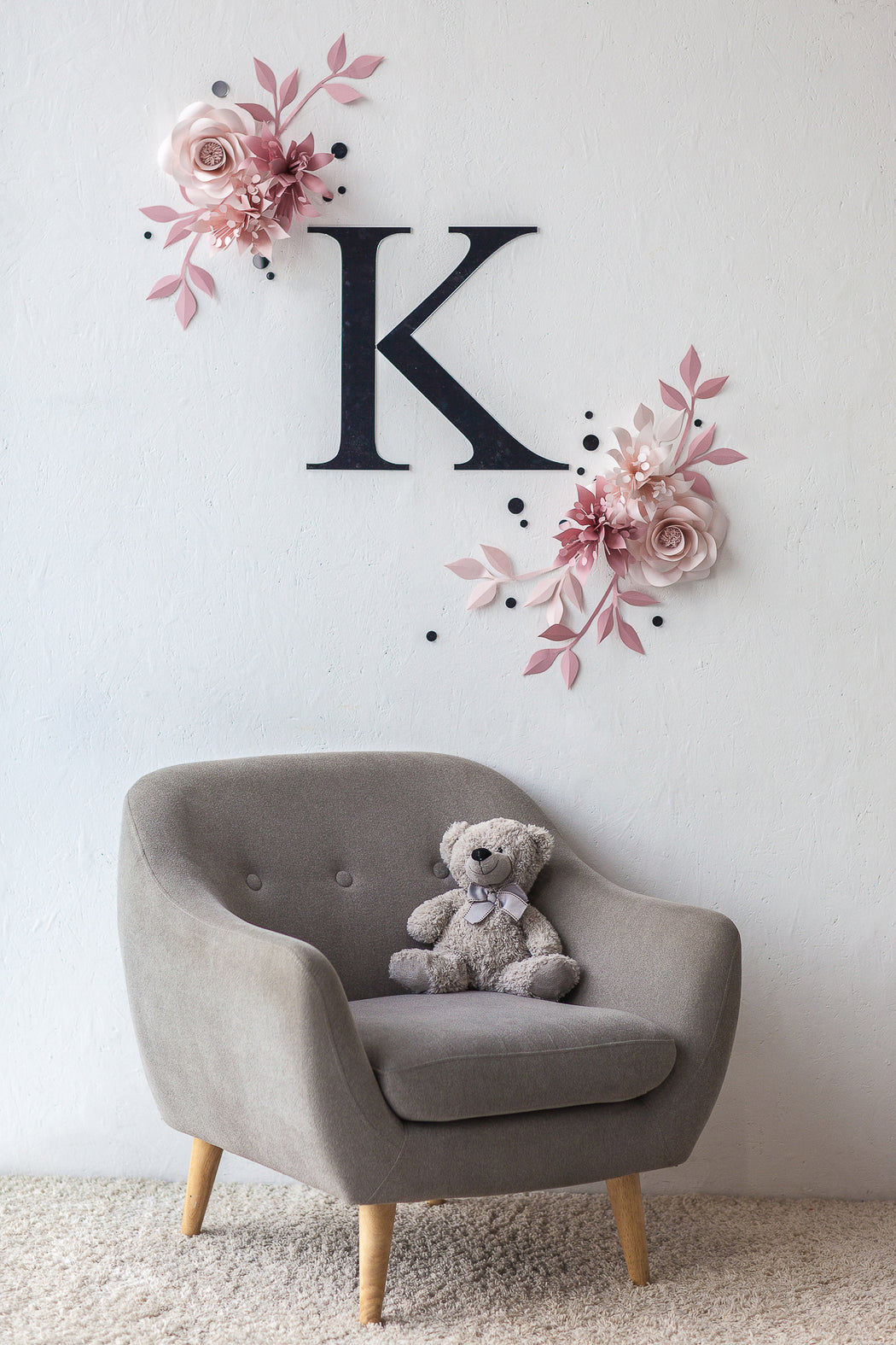 PAPER FLOWER NURSERY DECOR - NURSERY WALL DECOR - Mio Gallery