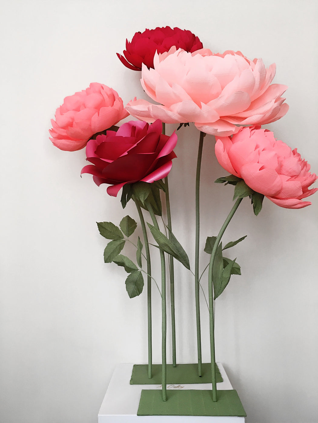 Oversized Paper Roses and Peonies- Standing Paper Flowers - Mio Gallery