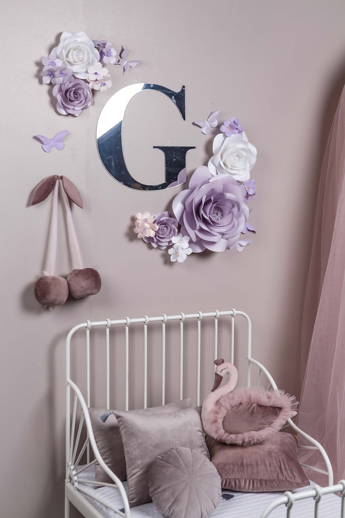CHERRY BLOSSOM COLLECTION: SOFT LAVENDER PAPER FLOWERS NURSERY DECOR