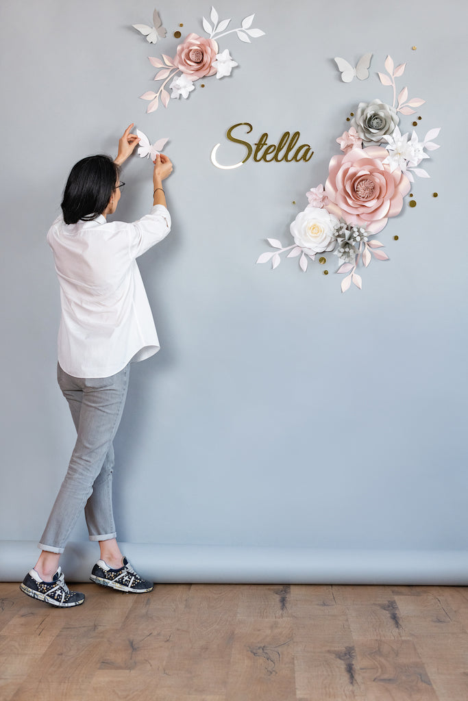 PAPER FLOWERS - NURSERY WALL FLOWERS