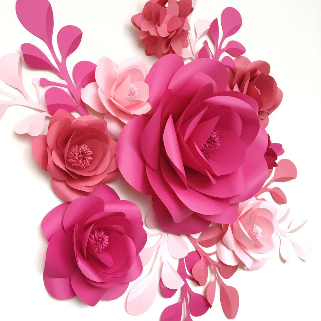 BIRTHDAY DECOR PAPER FLOWERS - PAPER FLOWER DECOR FOR BIRTHDAY EVENT - Mio Gallery