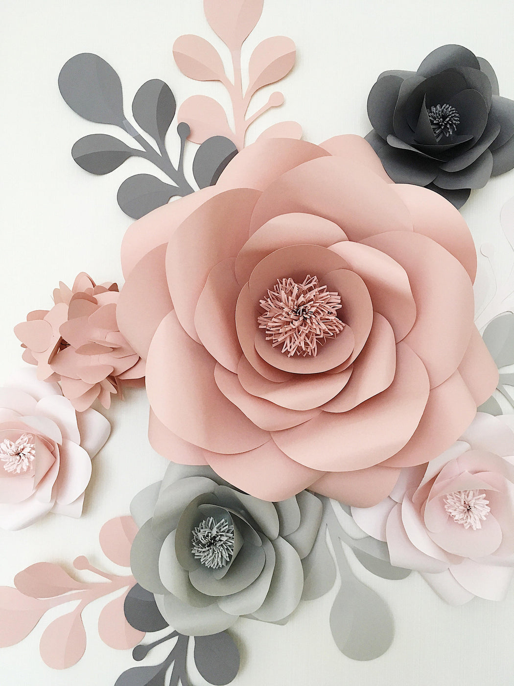 PAPER FLOWERS WALL DECOR - NURSERY PAPER FLOWERS