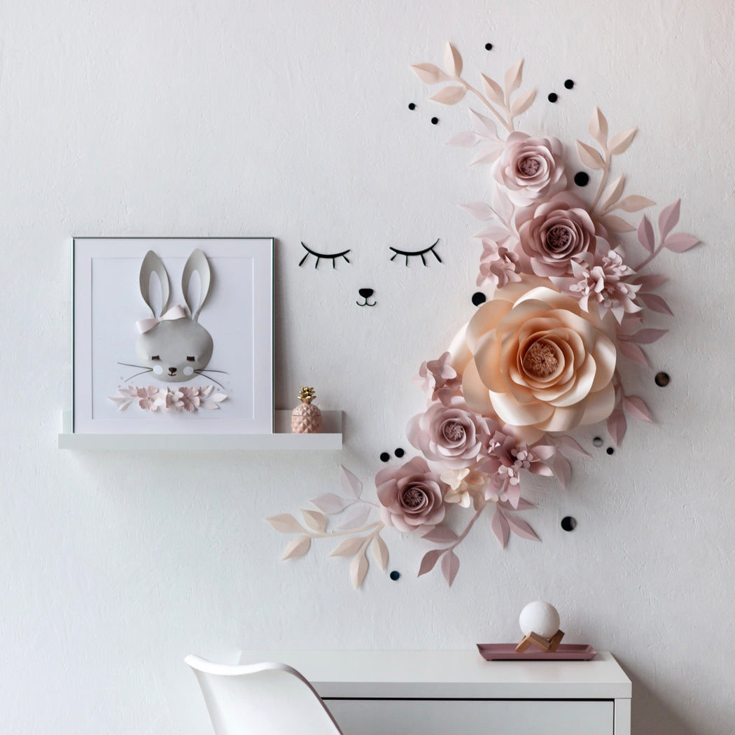 Nursery Paper Flower - Moon Paper Flower Set - Mio Gallery