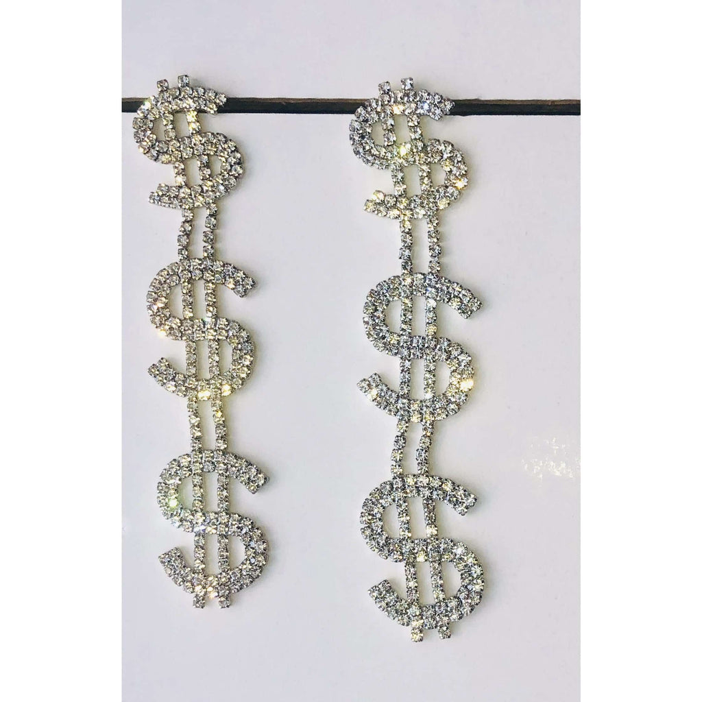 Money Reside Earrings - DomUnique, LLC