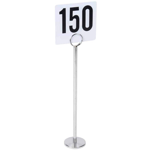 "Table Number Stand 12"" Chrome With"