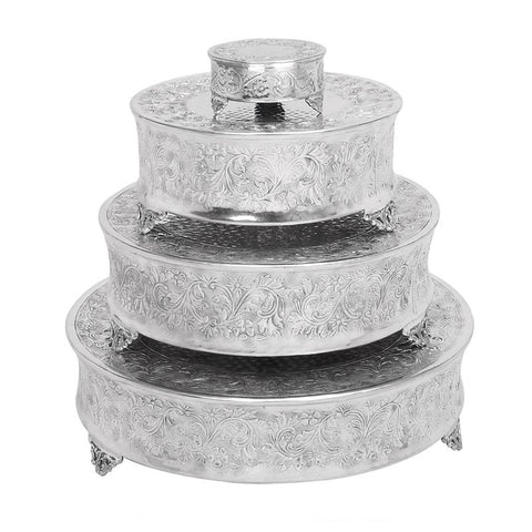 Silver Embellished Round Stands