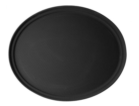 Black Oval Serving Tray