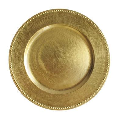 "12"" Gold Charger"