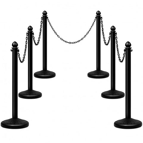 Black Plastic Stanchions and Chains