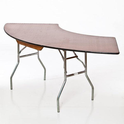 Wood Top Serpentine Table