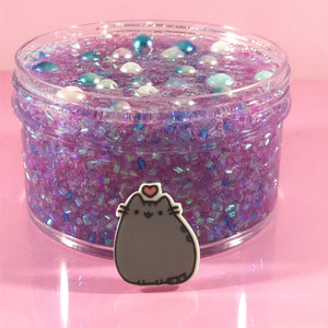 "Bingsu Slime ""Dreameow"" SCENTED crystal clear bingsu bead crunchy ASMR 8 oz or 6 oz With Charm slimes"