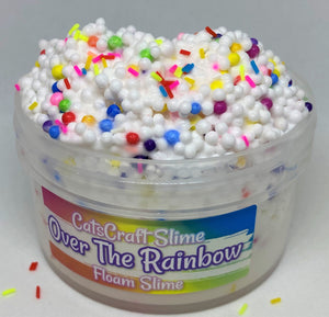 "Full Floam Slime ""Over The Rainbow"" SCENTED crunchy ASMR 8 oz or 6 oz rainbow foam Beads Sprinkles"