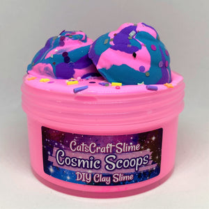 "DIY Clay Slay Slime ""Cosmic Scoops"" Scented Butter Slime ASMR 6 or 8 oz"