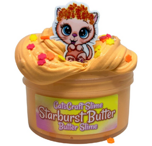 "Butter Slime ""Starburst Butter"" Scented butter Slime with Charm Inflating Soft ASMR 4 6 8 12 oz"