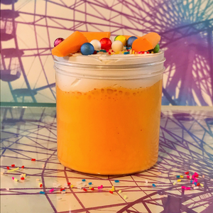 "DIY Clay Butter Slime ""Circus Peanuts"" Scented Orange Slime ASMR 8 oz or 6 oz"