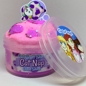 "Cloud Slime ""Cat Nap"" Scented Slime ASMR 6 or 8 oz with charm"