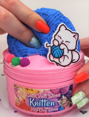 "SCENTED Crystal Clear ""Meowy Christmas"" Glitter Snowflake Stretchy Slime Satisfying Slimes 6 8 oz hand made"