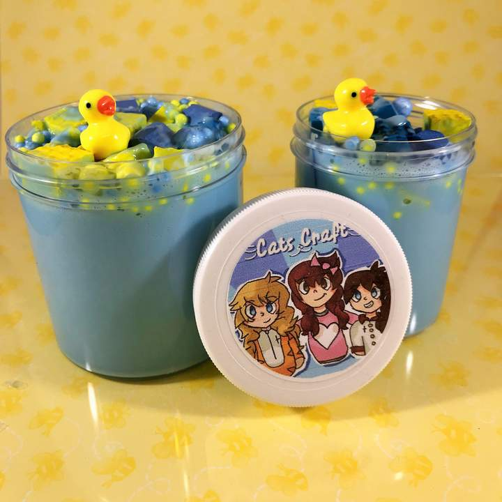 "Custom Scent Thicc Slime ""Bubble Bath"" Scented Foam Chunks ASMR 8 oz 6 oz or 4 oz Duck Charm Glossy slime"