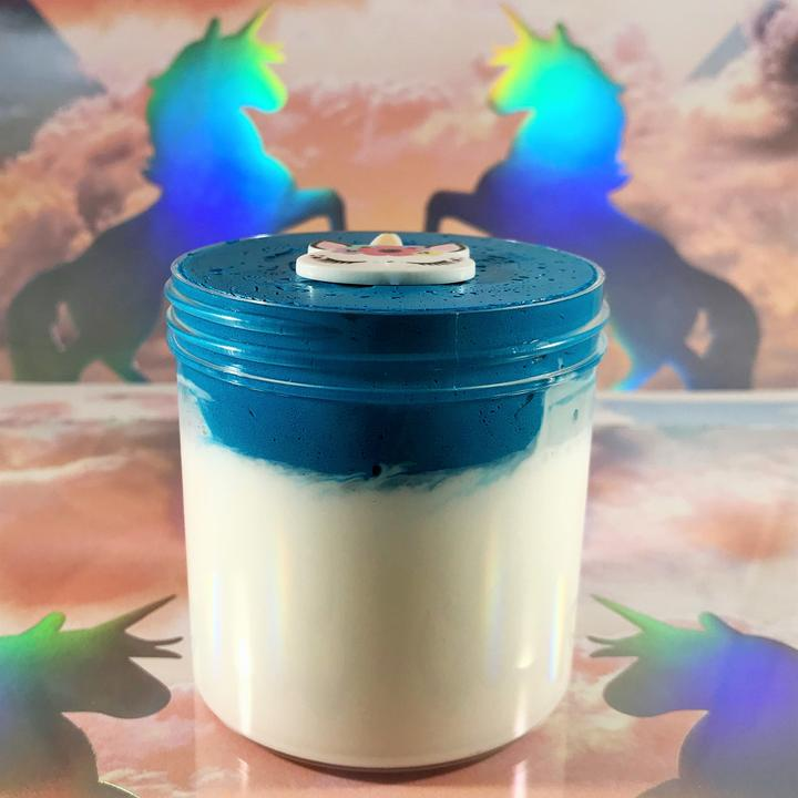 "DIY Clay Butter Slime ""Unicorn Cupcake Icing"" Scented Slime ASMR 8oz or 6 oz Unicorn Charm"