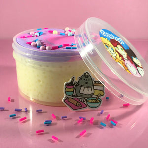 "White Glue DIY Butter Slushie Slime ""Chef Kitties' Crunchy Cake"" SCENTED crunchy ASMR 8 oz or 6 oz butter slushee slime with charm"