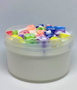 "Thick Glossy Slime ""Fruity Loops"" SCENTED Foam Chunks Cereal Milk ASMR 4 6 8 12 oz"