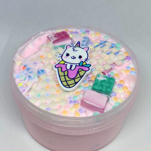 "Thick Glossy Slime ""Caticorn Cereal"" SCENTED Foam Chunks Beads ASMR 6 8 12 oz Charm"
