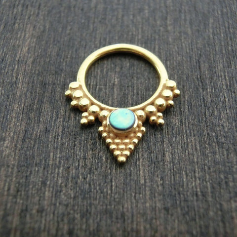 brass septum jewelry