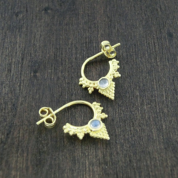 dainty moonstone earrings