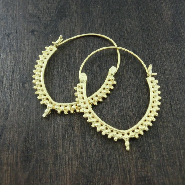 brass hoop earrings