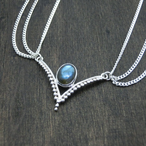labradorite head chain