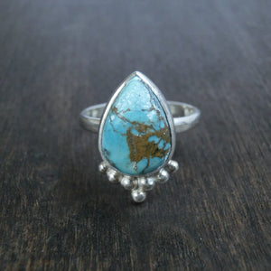 turquoise silver ring drop