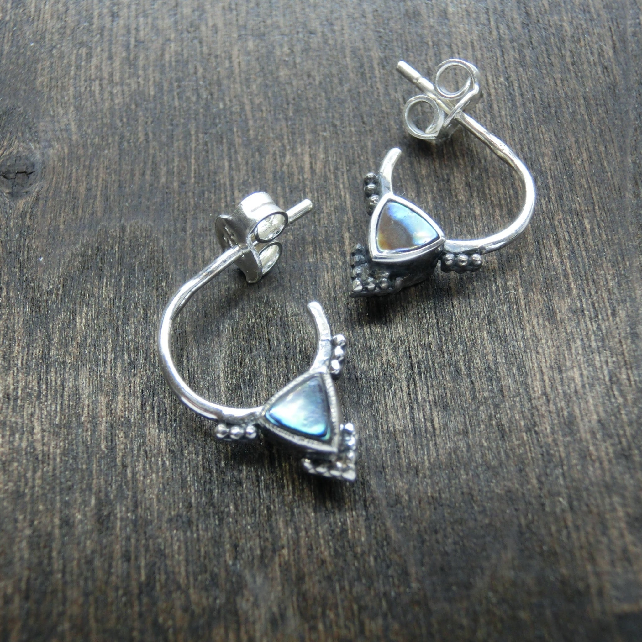 tiny silver hoop earrings sterling silver