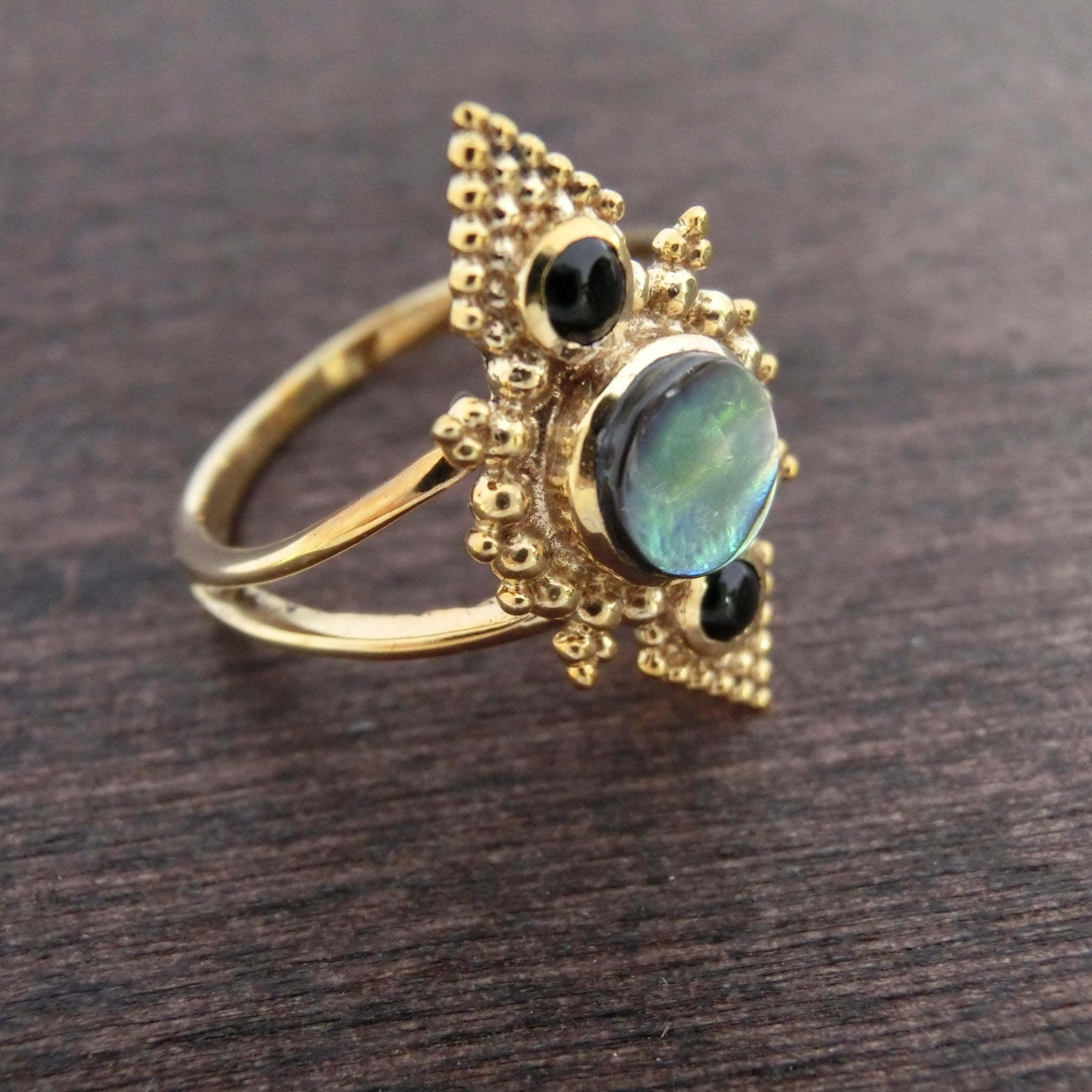 Abalone Ring⎜PYRAMID RING