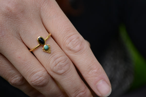 Dainty Gemstone Ring⎜Dainty Pyramid