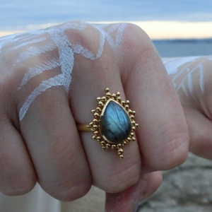 Labradorite Ring⎜Brass Ring