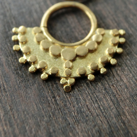 tribal brass septum