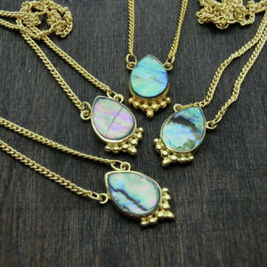 abalone shell necklaces drop shape