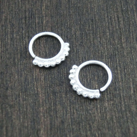 dainty hoop earrings silver 6mm