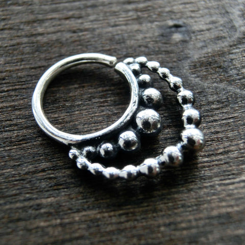 double septum sterling silver