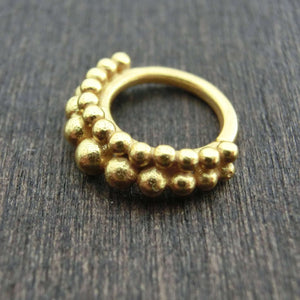 gold septum double band 16g