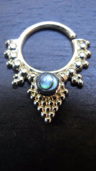 Tribal Septum Pyramid with Abalone Shell