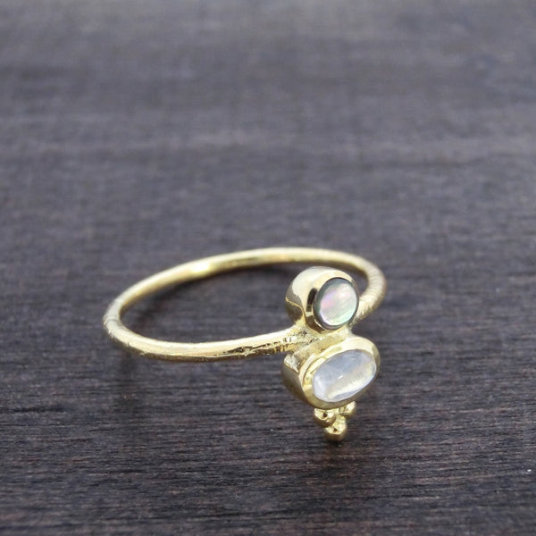 Delicate Moonstone Ring