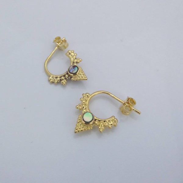 Tiny Hoop Earrings Brass